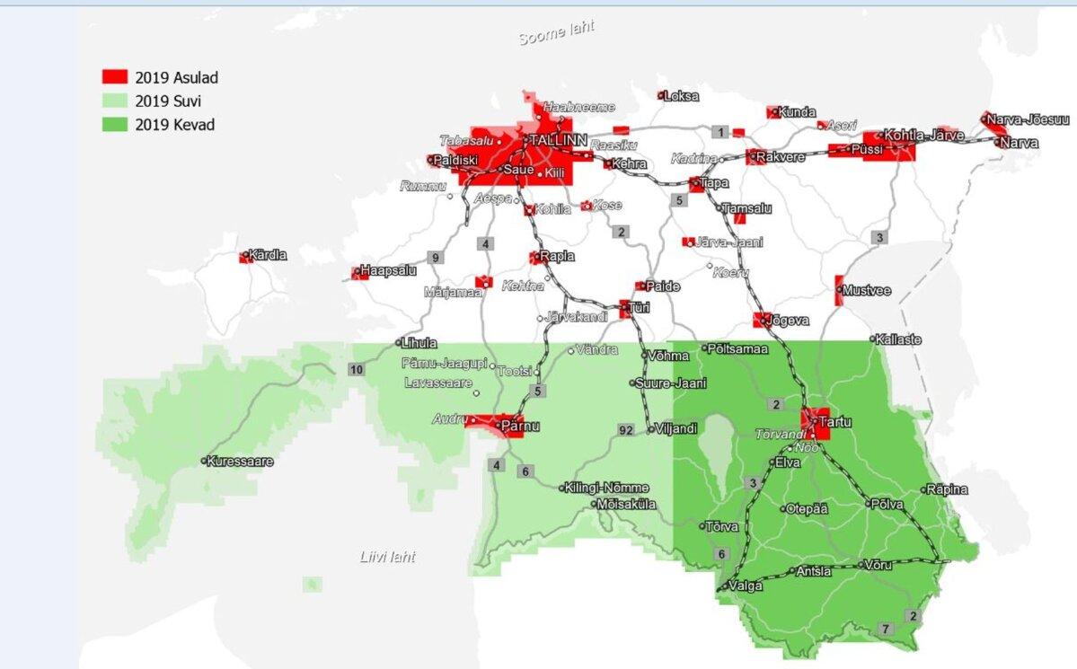 Algas aeropildistamise hooaeg - Kagu-Eesti saab värsked kaardiandmed
