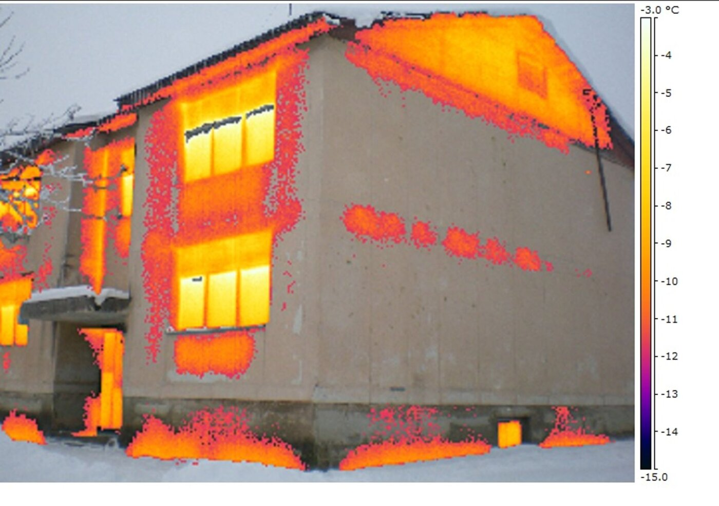 Termopildistamine eraldab soojad pinnad külmematest.
