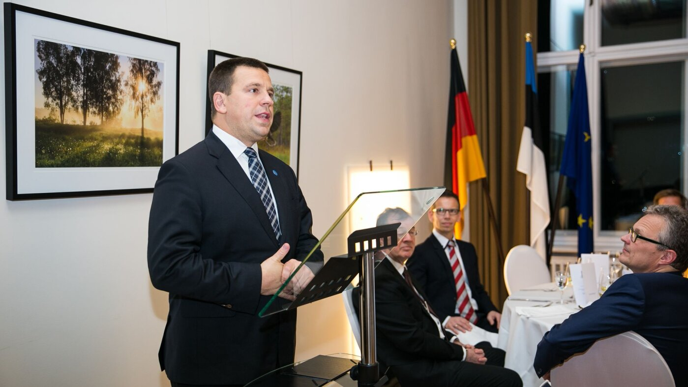 Вчера вечером в Берлине премьер-министр Юри Ратас рассказал об эстонской бизнес-среде