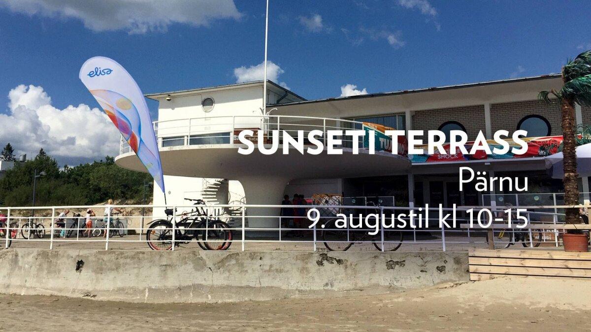 Elisa tutvustab Pärnu Sunseti terrassil ajutist välikontorit